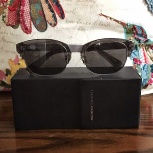 7 For All mankind Westgate Solid Grey Sunglasses